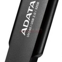 Stick USB A-DATA UV140, 32GB, USB 3.0 (Negru/Rosu)