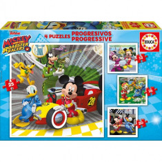 Puzzle Educa Progresiv Mickey and the Roadster Racers 73 Piese