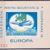 #2194 Romania 1977  colita nedantelata neuzata LP 939:  C.S.C.E. Belgrad, Organizatii internationale, Nestampilat