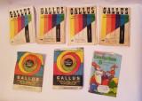 Lot 6 plicuri vopsea oua Gallus veche anii 70 + 1 plic West Germany bonus