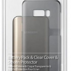 Kit Samsung EB-WG95EBBEGWW (protectie spate + folie protectie + acumulator extern + cablu Type-C) pentru Samsung Galaxy S8 Plus
