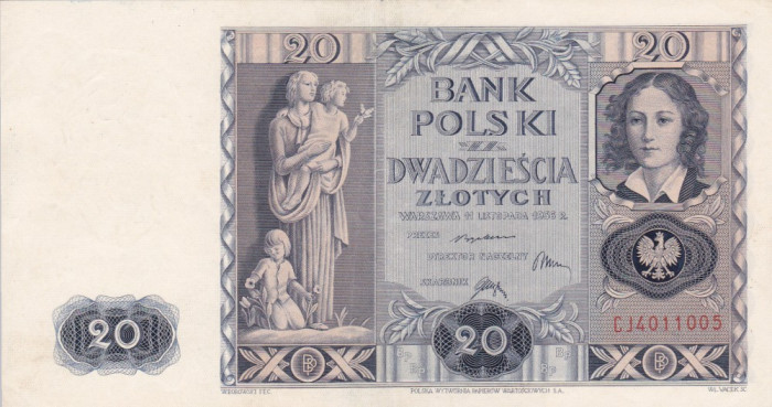 POLONIA 20 zloti 1936 XF/XF+!!!