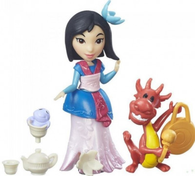 Figurina Hasbro Disney Princess Little Kingdom Small Doll & Friend Mulan'S Tea Party foto
