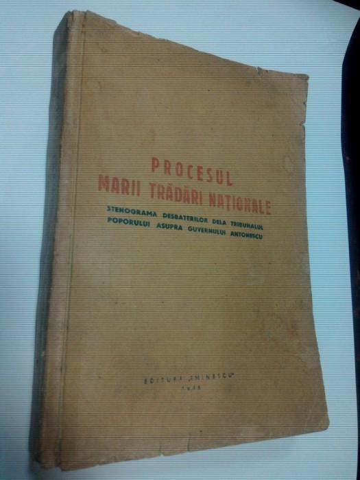 PROCESUL MARII TRADARI NATIONALE - 1946 foto mare