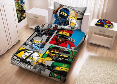 Lenjerie de pat LEGO Ninjago Movie (LEG-611) foto