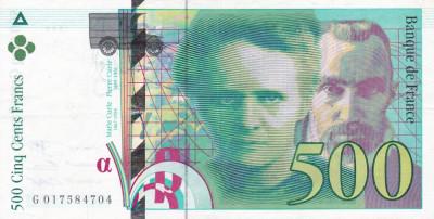 Franta 500 Franci 1994 AUNC foto