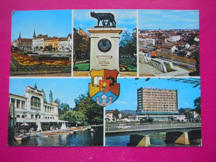 HOPCT  37061  CLUJ NAPOCA IN ANUL 1977 /HERALDICA - JUD CLUJ -CIRCULATA