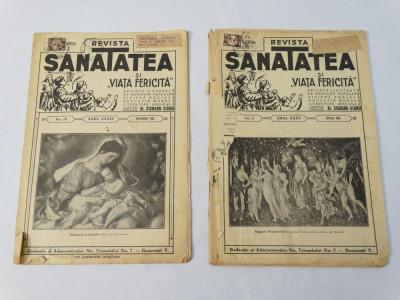 Revista Sanatatea nr. 10 / 1934 si nr. 2 / 1935 foto