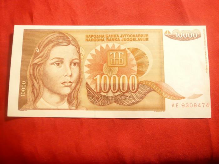 Bancnota 10 000 Dinari 1992 Yugoslavia , cal. NC