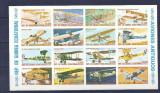 GUINEA ECUATORIALA - AVIOANE DE EPOCA, kleinbogen NDT, nestampilat, TR110
