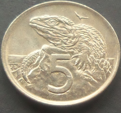 Moneda 5 CENTI - NOUA ZEELANDA, anul 1971  *cod 4110 foto