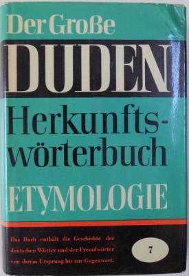 DER GROBE DUDEN, ETYMOLOGIE HERKUNFTSWORTERBUCH DER DEUTSCHEN SPRACHE, VOL. 7 von GUNTHER DROSDOWSKI , 1963 foto