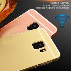 Husa / Bumper aluminiu + spate acril oglinda Samsung Galaxy S9 / S9 plus