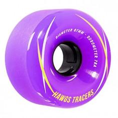 Set 4 roti Longboard Hawgs Tracers 67mm purple