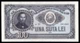 ROMANIA, 100 LEI 1952 aUNC~a21_005866