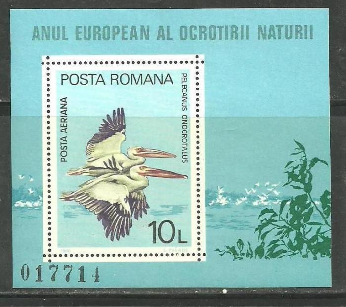 ROMANIA 1980 – PELICANI, colita nestampilata, TR116