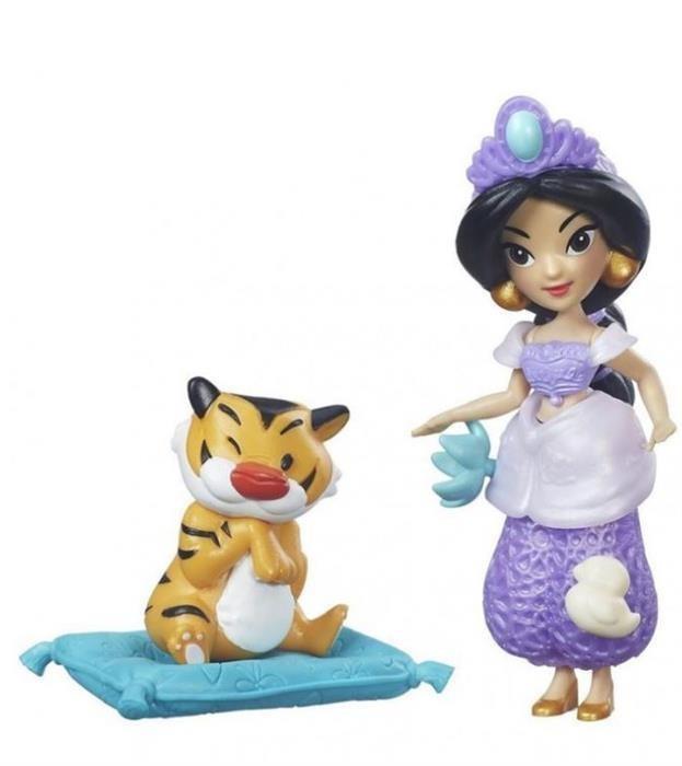 Figurina Hasbro Disney Princess Little Kingdom Small Doll & Friend Jasmin'S Slumber Party foto mare