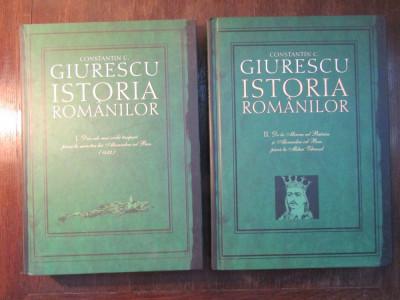 ISTORIA ROMANILOR - CONSTANTIN C. GIURESCU(2 VOL ) foto