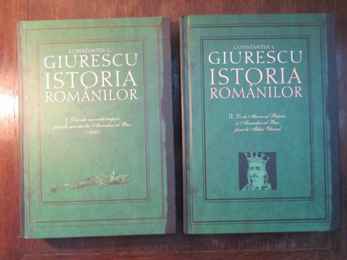 ISTORIA ROMANILOR - CONSTANTIN C. GIURESCU(2 VOL ) foto mare
