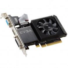 Placa video EVGA nVidia GeForce GT 710 1GB DDR3 64bit Low Profile Braket - Placa video PC