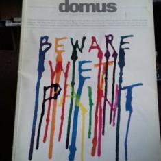 REVISTA DOMUS NR.IANUARIE/1992 - REVISTA DE ARHITECTURA, DESIGN SI CONSTRUCTIE