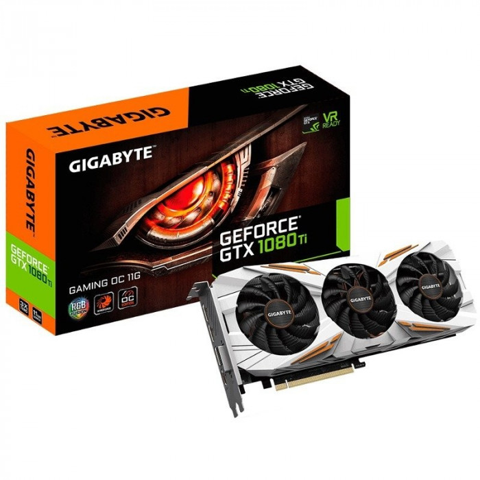 Gigabyte GeForce GTX 1080Ti Gaming OC 11GB GDDR5X foto mare