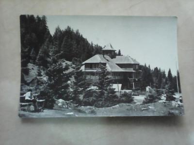C.P - Masivul Rarau , Cabana Rarau , circulata 1965 foto