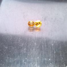 Pereche safire galbene Ceylon 3.4mm