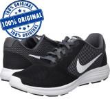 Pantofi sport Nike Revolution 3 pentru barbati - adidasi originali - alergare, 45, Negru, Textil