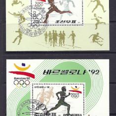 KOREA 1992 – ATLETISM OLIMPIADA BARCELONA, colite stampilate TR120, Stampilat