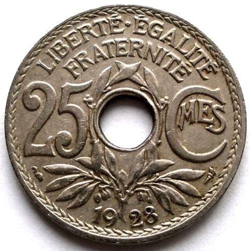 Franta A treia Republica (1871-1940) 25 Centimes 1928 , DIAMETRU 24mm. foto mare