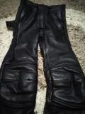 Pantaloni moto, din piele,model de dama