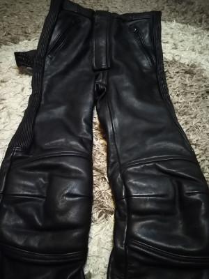 Pantaloni moto, din piele,model de dama foto