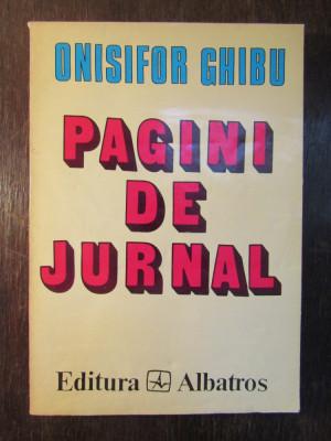 Pagini De Jurnal (1935-1963) Vol.i - Onisifor Ghibu foto