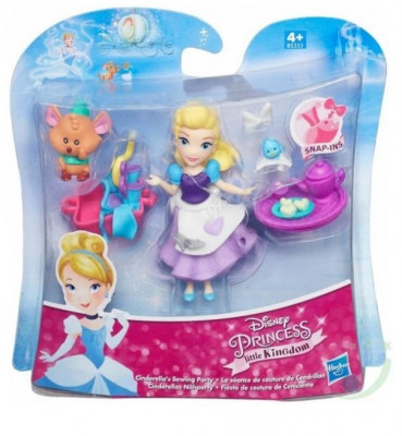 Figurina Hasbro Disney Princess Little Kingdom Small Doll & Friend Cinderella'S Sewing Party foto