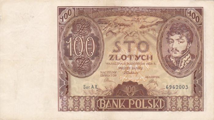 POLONIA 100 zloti 1934 VF+++!!!