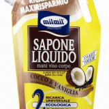 Mil Mil Rezerva Sapun Lichid, Dus Spuma Baie Cocos & Vanilia 2 l