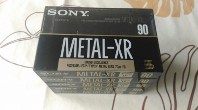 Casete audio sigilate Sony metal XR 90 foto