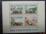 GERMANIA (BERLIN) 1971 – AUTOMOBILE DE CONCURS, bloc nestampilat, TR89