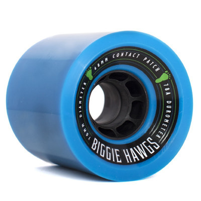 Set 4 roti Longboard Biggie Hawgs 70mm blue foto