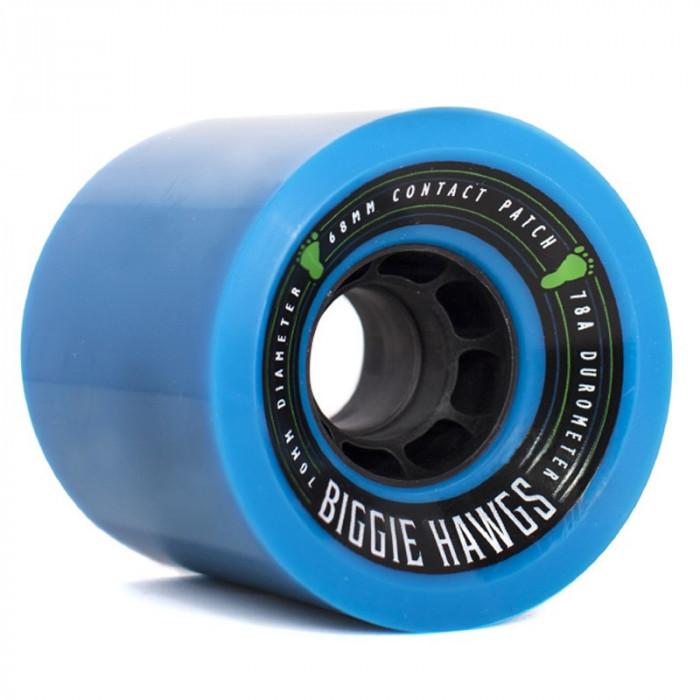 Set 4 roti Longboard Biggie Hawgs 70mm blue