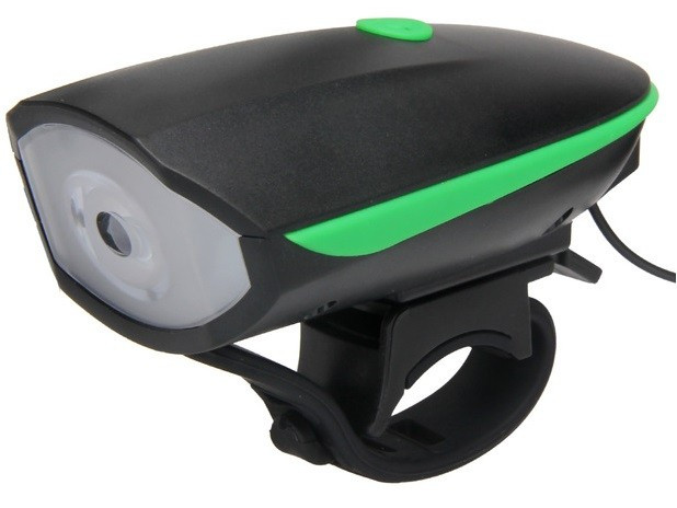 LANTERNA LED + CLAXON - Bicicleta - USB - BATERIE 1200 MAH - 3 FUNCTII - 120 DB