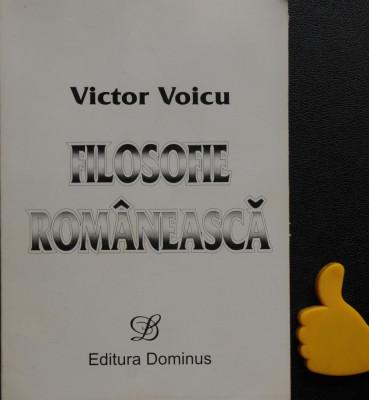Filosofie romaneasca Victor Voicu foto