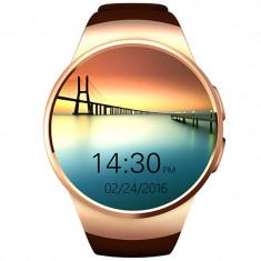 Ceas Smartwatch cu Telefon iUni KW18, Touchscreen, 1.3 Inch HD, Notificari, iOS si Android, Gold + Spinner Cadou