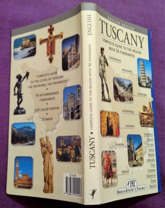 Toscana (Tuscany). Ghid complet de calatorie  - Editie in limba engleza foto mare