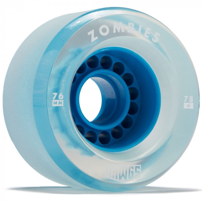 Set 4 roti Longboard Zombie Hawgs Clear 76mm blue foto mare