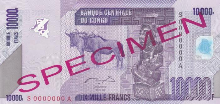 Congo 10 000 Francs 18.02.2006 UNC foto mare