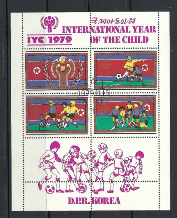 KOREA 1979 – FOTBAL COPII, bloc stampilat, TR124
