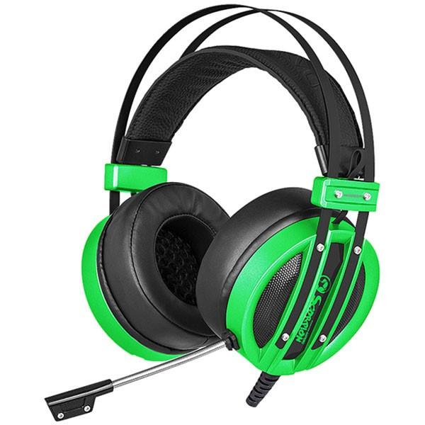 Casti Gaming Marvo Hg9037 Usb Virtual 7.1 Green foto mare