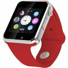 Smartwatch cu Telefon iUni A100i, BT, LCD 1.54 Inch, Camera, Rosu + Spinner Titirez Cadou